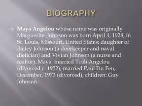 Angelou Biography Essay by Angelou