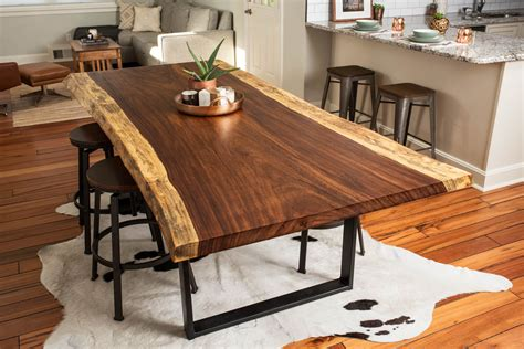 Live Edge Dining Room Table Buy A Made Live Edge Acacia Dining Conference Table Made To Order From Bdc Designs