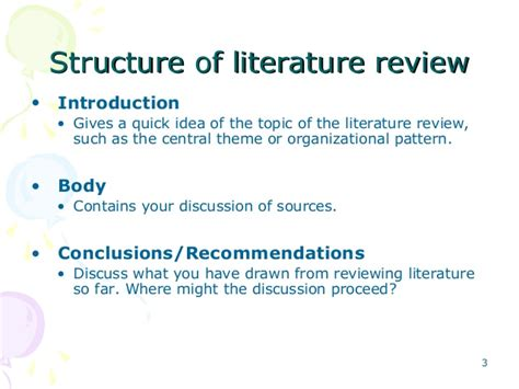 themes in literature review writing and presenting literature review