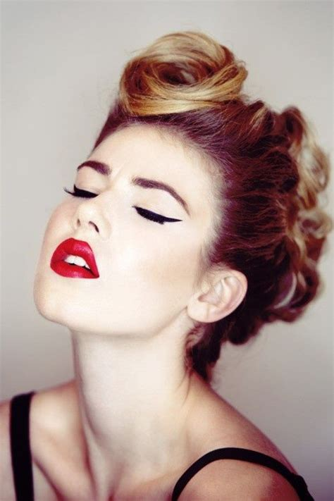Vintage Updo Hairstyles Pinterest Yet Another Retro Hair Make Up Look