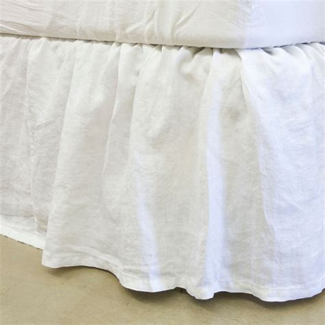 bed dust ruffle bella notte linens signature linen gathered dust ruffle
