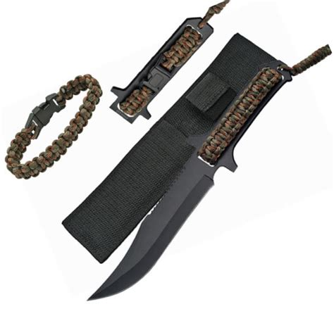 bracelet knife 11 5 8 in tang survival knife w bracelet 211175