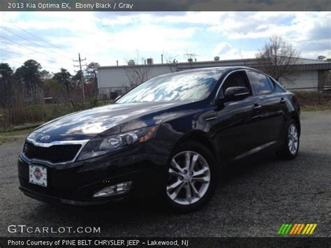 Black 2013 Kia Optima Black 2013 Kia Optima Ex Gray Interior