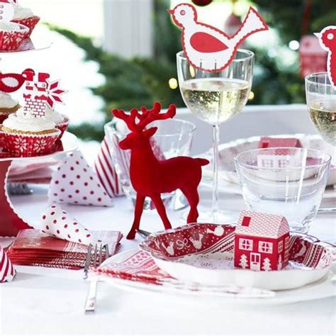 red reindeer christmas table decoration by bunting
