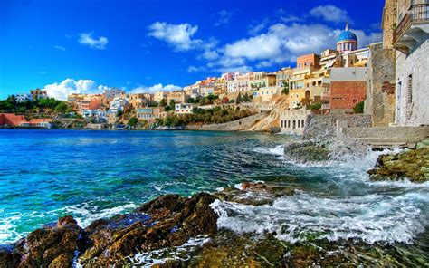 desktop themes greece greece beach wallpaper wallpapersafari