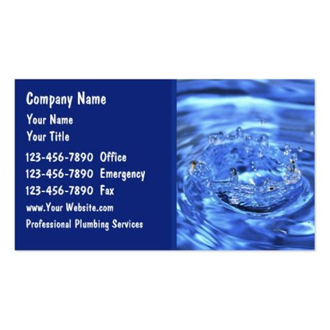 Plumbing Business Cards by Plumbing Business Cards Zazzle