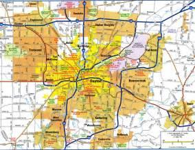 dayton map highways map of dayton cityfree maps of us