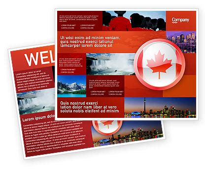 canada sign brochure template design and layout download