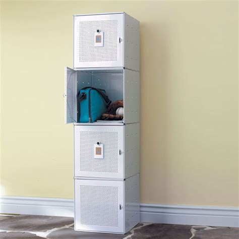 Locker Shelf Container Store by White Enameled Qbo Steel Cube Locker The Container Store