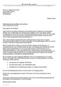 Anschreiben Bewerbung Ausbildung Maler Lackierer Bewerbung Maler In Und Lackierer In Gek 252 Ndigt Berufserfahrung Sofort