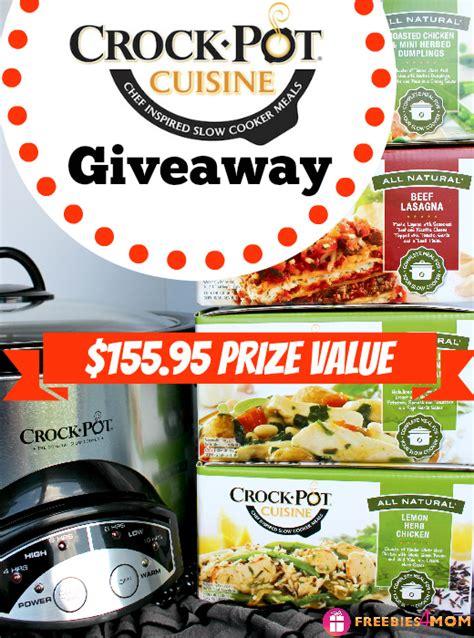 Crock Pot Giveaway - crock pot 174 cuisine giveaway