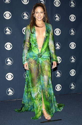 Dress Exotix Green jlo wore a plunging green versace silk chiffon dress to the 42nd grammy awards ceremony