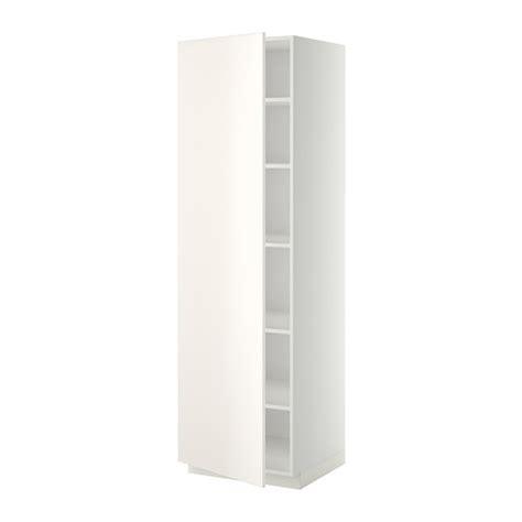 haushaltsschrank 60 cm breit metod hoge kast met planken wit veddinge wit 60x60x200