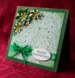 happy green color happy marriage anniversary green color greeting card for