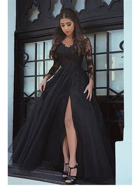 Sleeve V Neck Dress sleeves v neck lace prom evening formal dresses 996021557