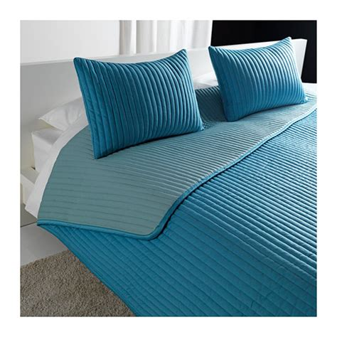2 Cushion Covers Karit Bedspread And 2 Cushion Covers Turquoise 260x280
