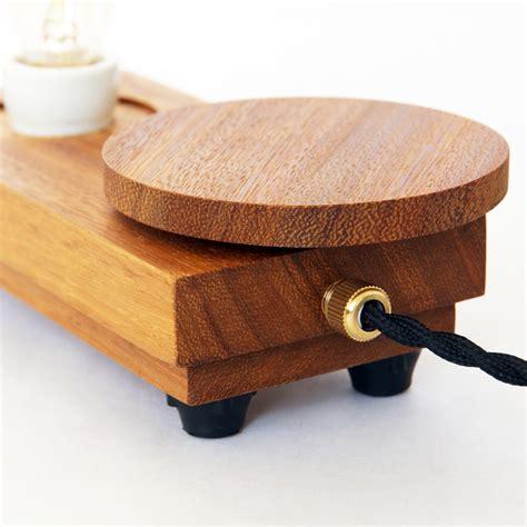 Handmade Bulbs - handmade wooden l disc small with edsion st48 bulb