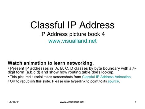 Spam Ip Address Lookup Classful Ip Address Ip Address Picture Book 4 From Visual Land Anima
