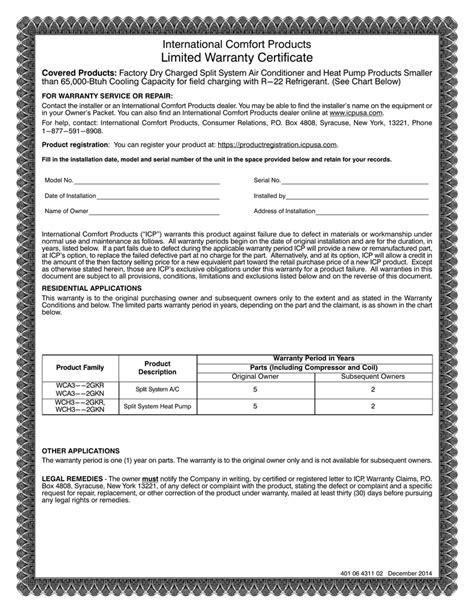 design warranty certificate warranty certificate sle format image collections