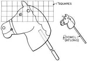 horse head template craft printables and templates