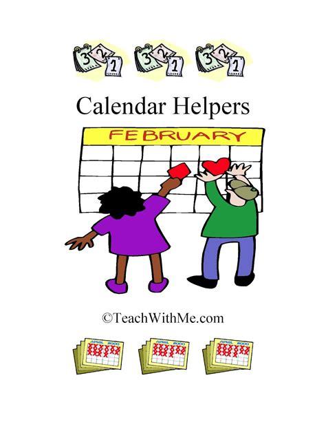 Calendar Helper Clipart Classroom Freebies Calendar Helper Book