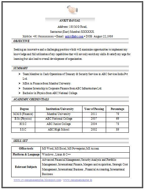 excellent resume templates for freshers 25 best ideas about career objectives for resume on