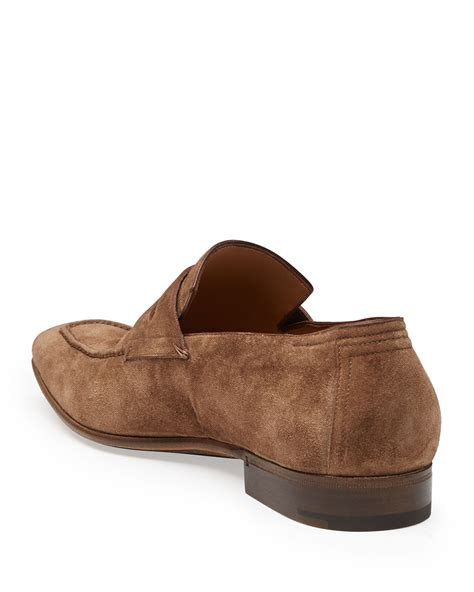 berluti loafers lyst berluti andy suede loafer in brown for
