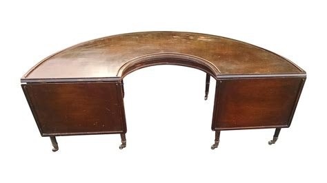 1800s U Shaped English Fox Hunt Coffee Table Chairish Shaped Coffee Tables