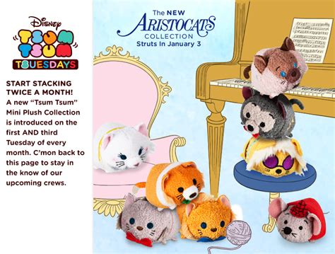 Tsum Tsum New new aristocats tsum tsum collection to be released january