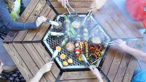seat jag grill features grill firepit table youtube
