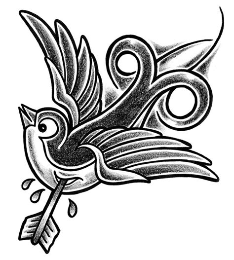 tribal swallow tattoo tattoos