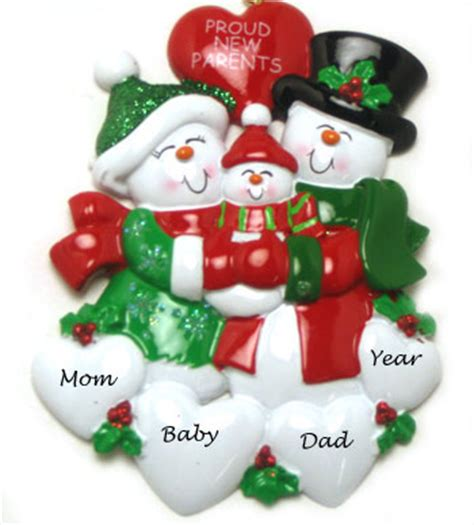 proud new parents personalized christmas ornament
