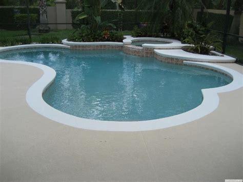white edge pool deck color  pool deck    dark