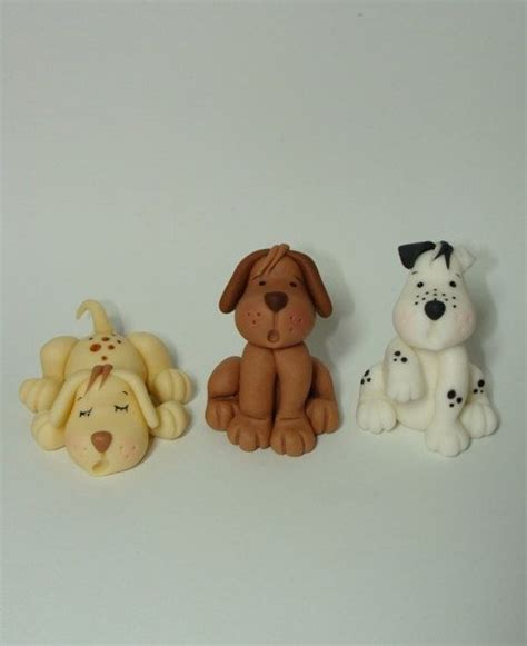 puppy cake topper scruffy boy cake topper gum paste