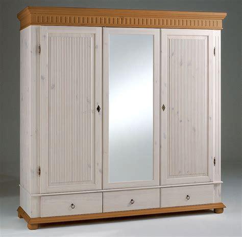 kleiderschrank weiss 3 türig mit spiegel kleiderschrank 3 t 252 rig wei 223 antik mit spiegel kiefer