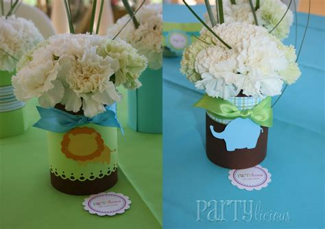 Safari Centerpieces For Baby Shower by Partylicious Partylicious And Safari Baby Shower