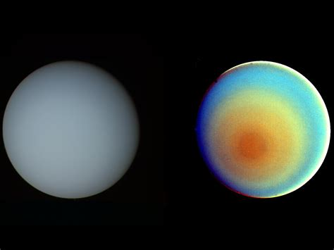 what is the color of uranus uranus in true and false color nasa