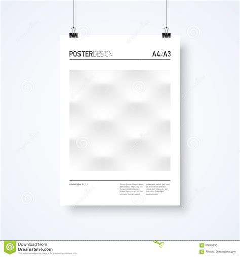 design poster hanger poster hanging on clips vector template vector