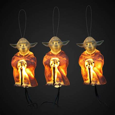 jedi master seasonal decor yoda star wars holiday lights