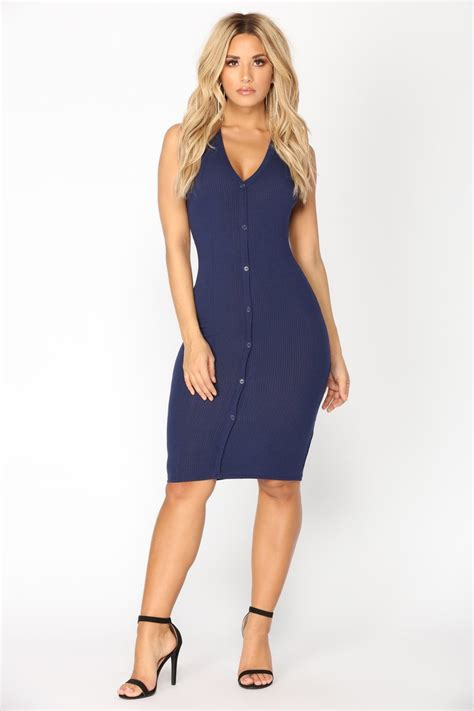 Dress Aliza Navy womens dresses maxi mini cocktail denim club