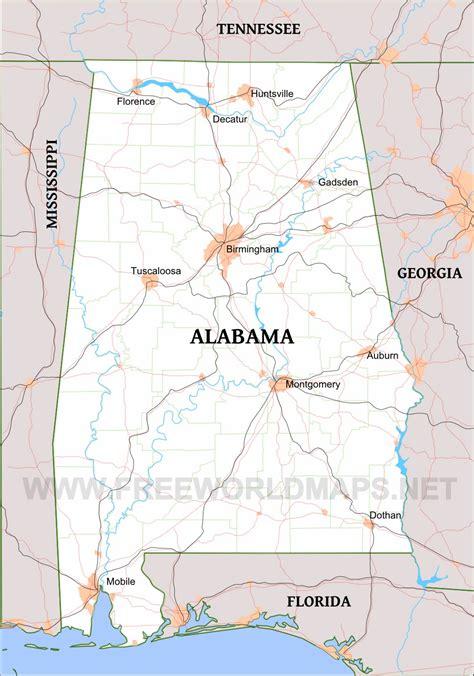 alabama on map of usa alabama maps