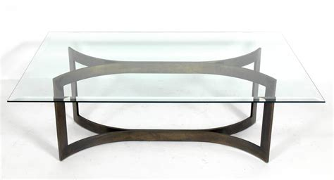 mid century modern solid bronze coffee table base at 1stdibs