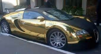 Solid Gold Bugatti Veyron Real Gold Bugatti