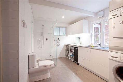 small laundry  bathroom combinations house design