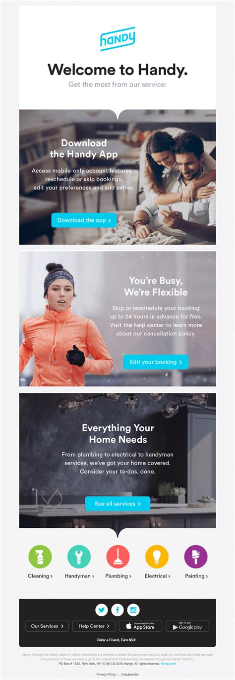 best layout for email marketing 13 of the best exles of beautiful email design http