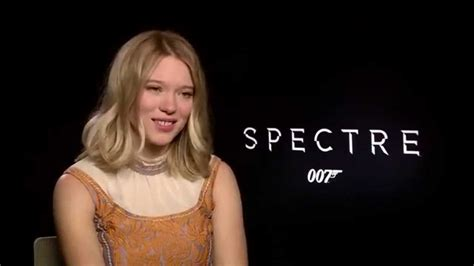 lea seydoux youtube interview spectre set interview christoph waltz lea seydoux and