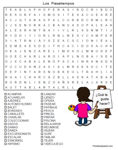 printable word search in spanish counting number worksheets 187 time puzzles worksheets