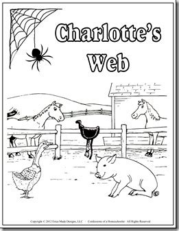 Charlotte S Web Unit Study Confessions Of A Homeschooler Charlottes Web Coloring Pages