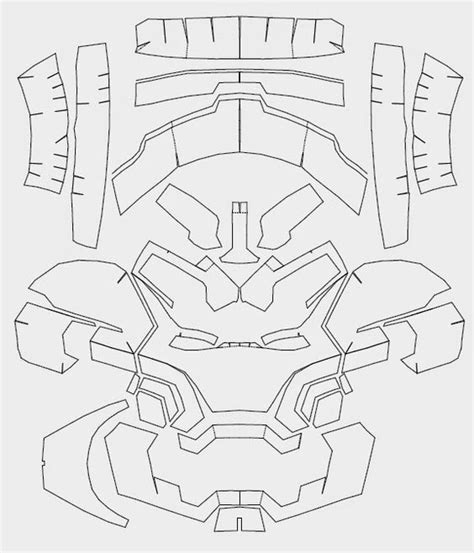 iron suit template iron 42 costume helmet diy cardboard build with
