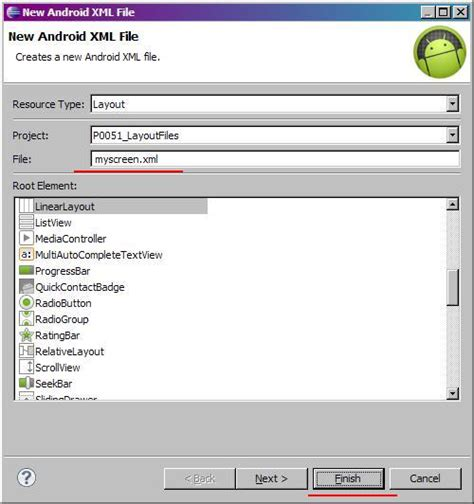 layout folder names layout file for activity xml representation changing
